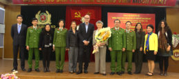French Professor who discovered HIV virus visits Vietnam's Police Academy